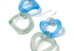 double-wave-recycled-glass-earrings